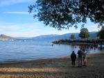 The lake returning to normal post-swim.