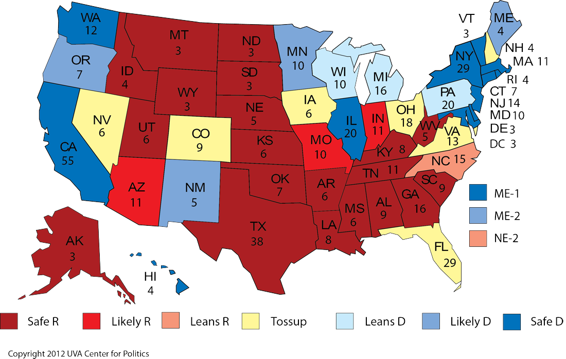 Map Of Us Electoral College.The U S Electoral College Map Explained Pressing Pause